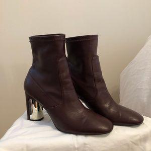Red Zara Heeled Sock Boots
